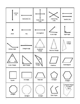 Make Your Own Geometry Bingo