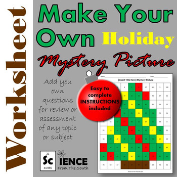 Make Your Own Holiday Mystery Picture Worksheet for Any Subject or Topic