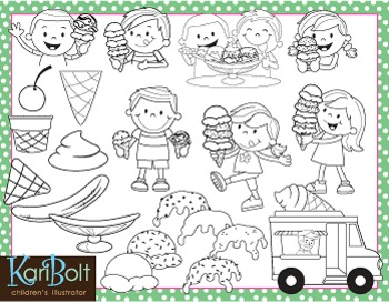 Make Your Own Ice Cream Clip Art
