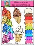 Make Your Own Ice-Cream Cones {P4 Clips Trioriginals Digital Clip Art}