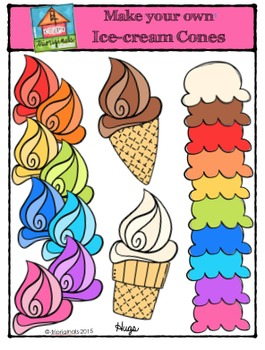 Make Your Own Ice-Cream Cones {P4 Clips Trioriginals Digital Clip Art}