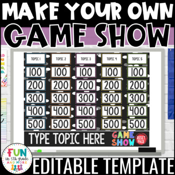 Make Your Own Interactive Game Show | Editable Review Game | *PERSONAL USE ONLY*