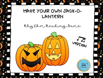 Make Your Own Jack-o-Lantern: eighth and two sixteenth version