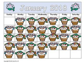 Make Your Own January Calendar! (Math Patterns)