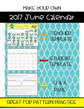 Make Your Own June Calendar! (Math Patterns)