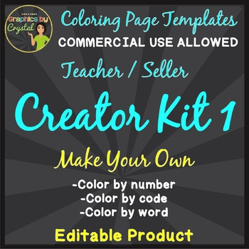 Make Your Own Kit 1: Color by Code, Number, or Word Activity (Editable Template)