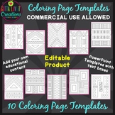 Make Your Own Coloring Pages (Editable Template) Coloring Worksheets