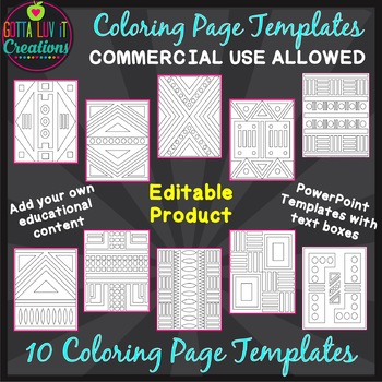 Make Your Own Coloring Pages Editable Template Coloring Worksheets