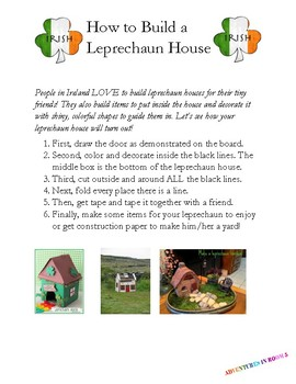 Make Your Own Leprechaun House-- with Instructional Text!