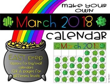 Make Your Own March Calendar! (Math Patterns)