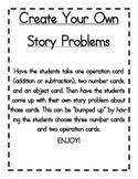 Make Your Own Math Word Problems