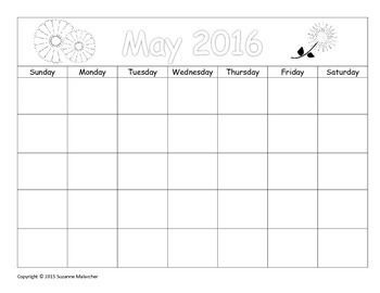 Make Your Own May Calendar! (Math Patterns)