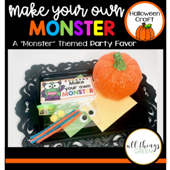 Make Your Own Monster (Halloween Party Favor Idea)