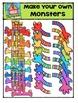 Make Your Own Monsters {P4 Clips Trioriginals Digital Clip Art}