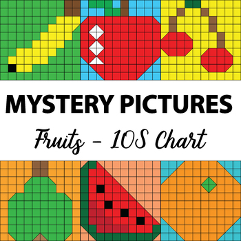 Make Your Own Mystery Pictures (Fruits) - 100s Chart