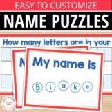 Name Activities for Preschool Pre-K and Kindergarten: Name Puzzles