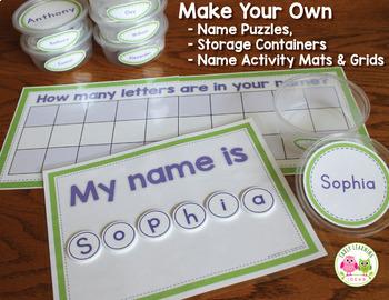 Name Activities for Preschool Pre-K and Kindergarten: Name Practice Puzzles