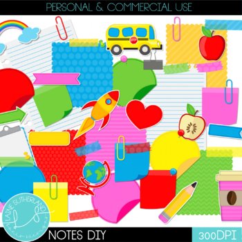 Make Your Own Notes Clip Art Set