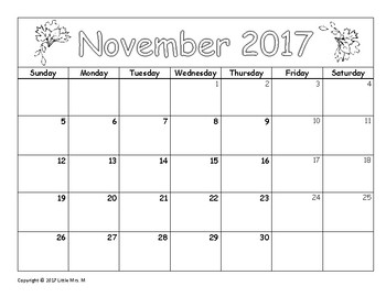 Make Your Own November Calendar! (Math Patterns)