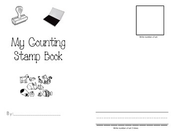 Make Your Own Number Book with Stamps-Student Booklet