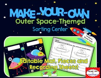 Make-Your-Own Outer Space-Themed Sorts: Editable mat, piec
