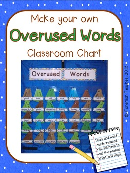 """Make Your Own """"Overused Words"""" Pocket Chart"""