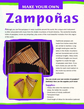 Latin American Instruments - Make Your Own Panpipes (Zampoñas)