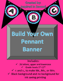 Make Your Own Pennant Banner