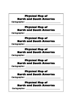Geography:Make-Your-Own Physical,Political & Region Maps -North & South America
