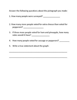 Make Your Own Pictograph with Follow-up Questions 2.MD.10