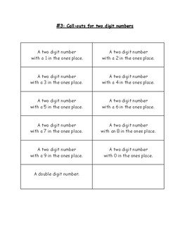 Make Your Own Place Value Bingo