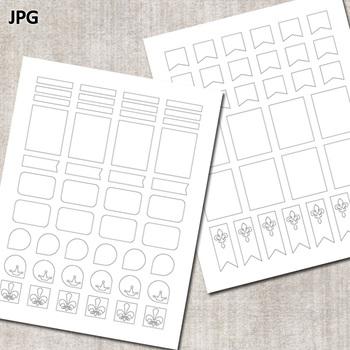 Make Your Own Planner Stickers / Erin Condren Templates / No. 8 Mardi Gras
