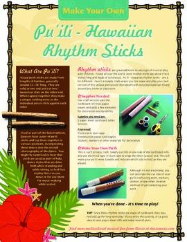 Make Your Own Pu'ili - Hawaiian Rhythm Sticks