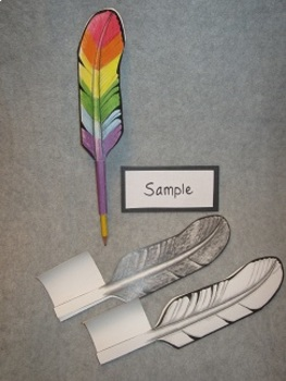 Make Your Own Quill Pen/Pencil! Two Sided Fun Craft