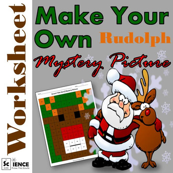 Make Your Own Rudolph Mystery Picture Worksheet for Any Topic or Subject