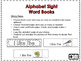 Make Your Own SIGHT WORD BOOKS