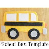 School Bus Craftivity Template