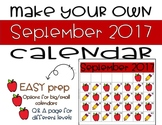 Make Your Own September Calendar! (Math Patterns)