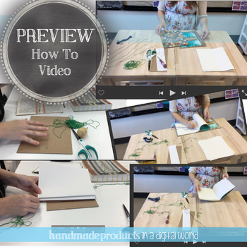 Visual Art Sketchbook, Bookbinding Bundle: Six DIY Sketchbook Lessons