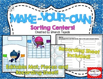 FREE: Make-Your-Own Sorting Center: Editable Mat, Pieces &