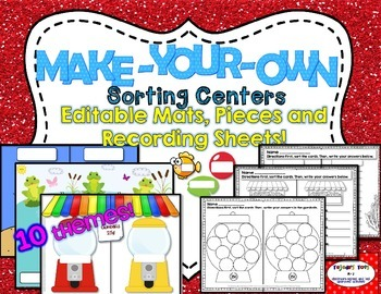Make-Your-Own Sorting Centers: Editable Mats, Pieces & Rec