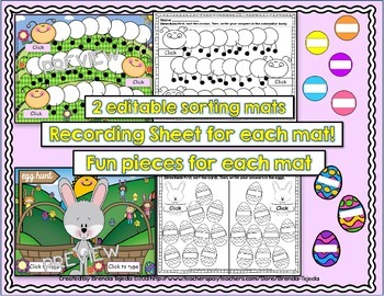 Make-Your-Own Spring-Themed Sorting Centers: Editable!