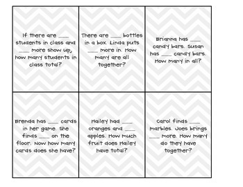 Make Your Own Story Problem Cards