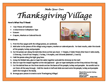 Make Your Own Thanksgiving Village