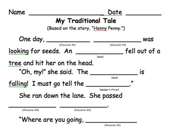Make Your Own Traditional Tale