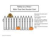 Make Your Own - Turkey Number Lines & Worksheets (Thanksgi
