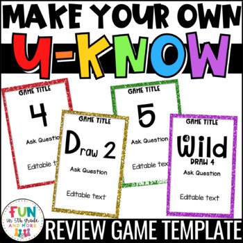 Make Your Own U-Know Review Game {Fully Editable} *Personal Use Only*