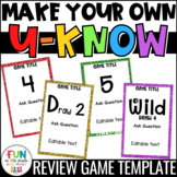 Make Your Own U-Know Review Game {Fully Editable} *Persona