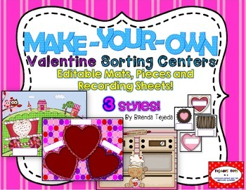 Make-Your-Own Valentine's Day Sorting Centers: Mats, Piece