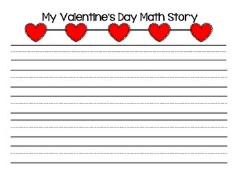 Make Your Own Valentine's Day Math Story Problem CCSS